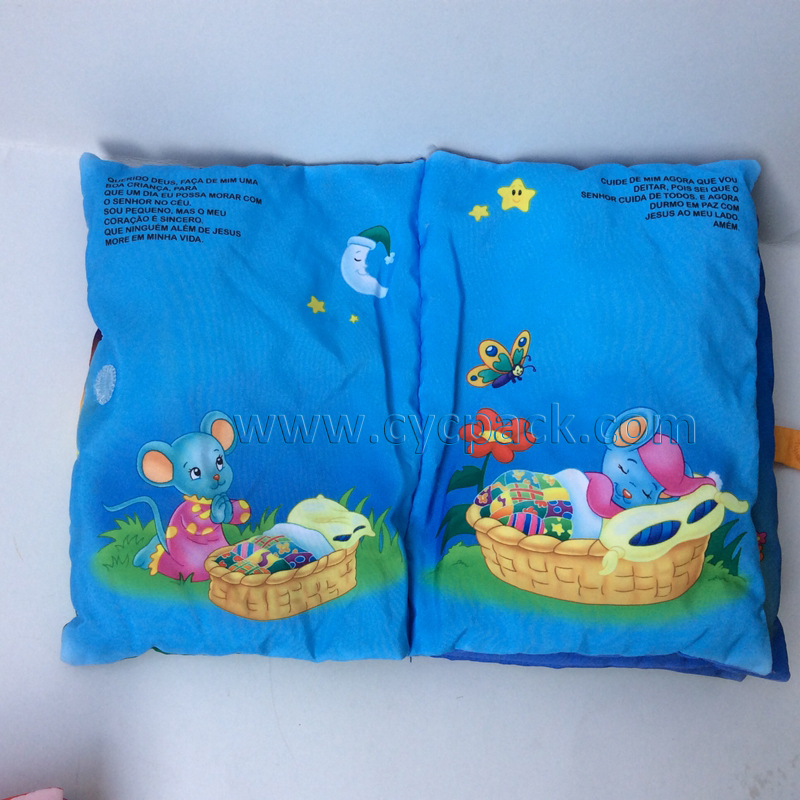 Educational Fabric Pillow Story Book (4)